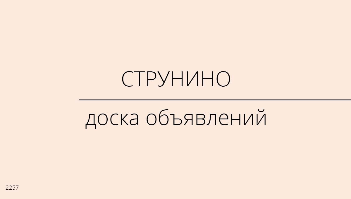 Доска объявлений, Струнино, Россия